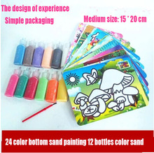 Supplies wholesale nice picture paper drawing toys set kits sand art for kids