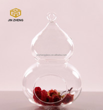 Pear-Shaped Hydroponics vase opening transparent glass hanging