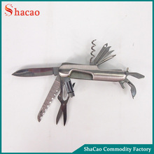 Multifunction Stainless Steel Folding Pocket Knife With Led Light