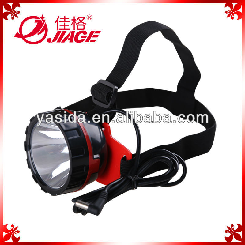 Super Bright Rechargeable LED plastic Head Torch light made in china