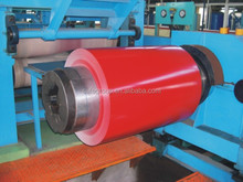 red color coated steel in coil