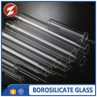 polished heat resistant borosilicate glass tube