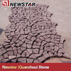 red granite paving stone mesh