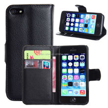 Hot selling wallet style leather case for iPhone5, for iPhone 5S mobile phone case