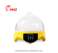 promotional newest cute 7 egg incubator/WE-9-7 CE approved mini hatchery/digital design poultry machine