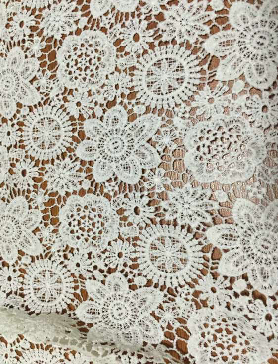 chemical milky yarn lace fabric for women's garment