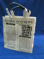 Jute Bags with newspaper design