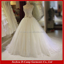 WD296 Factory direct wholesale princess bling wedding dresses ball gown
