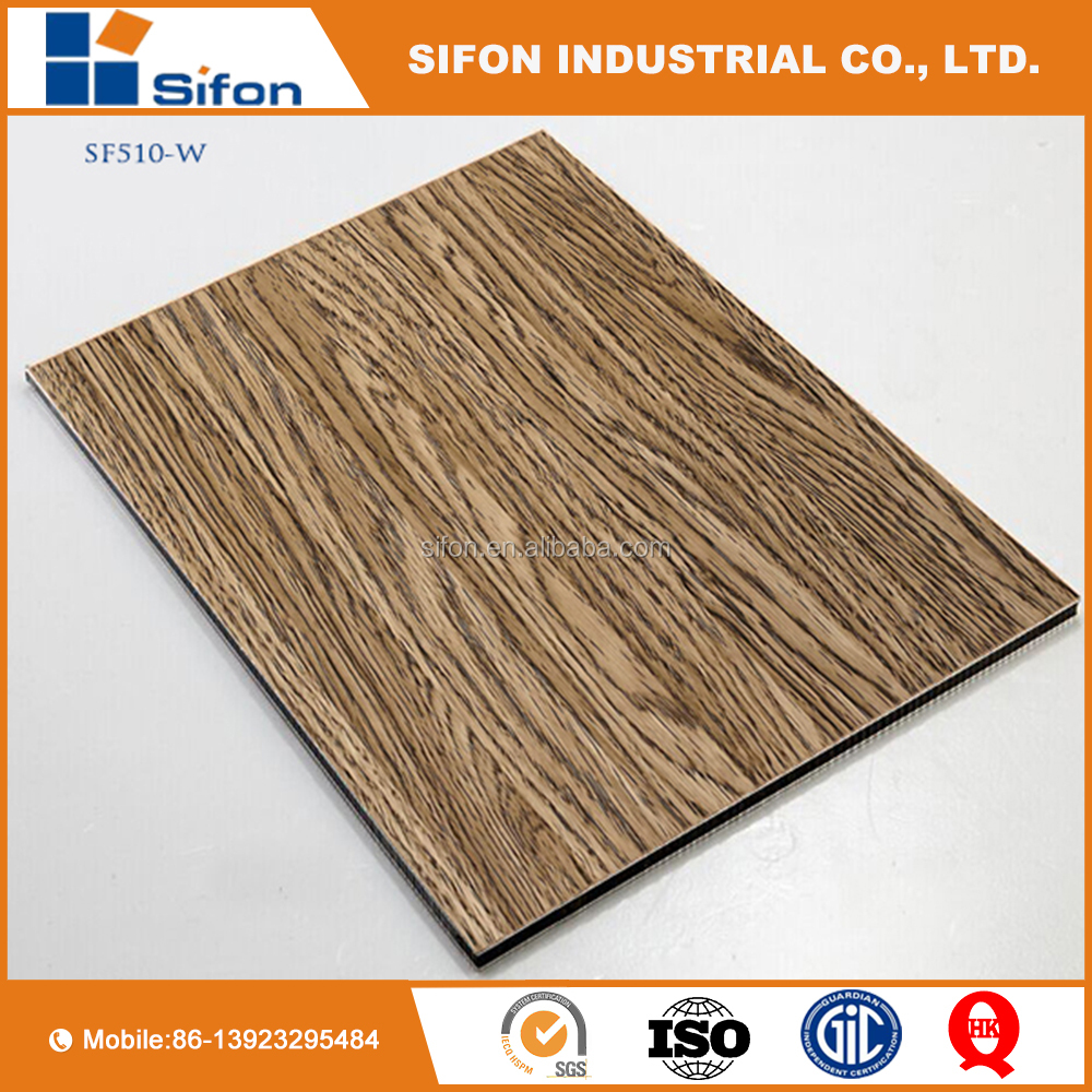 Aluminum Composite Board Wood Grain Exterior Wall Panel