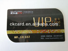 Smooth Finish printing Leaf shape PVC Cards