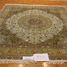 8x10ft yellow color big size rug india silk rugs handmade oriental rug