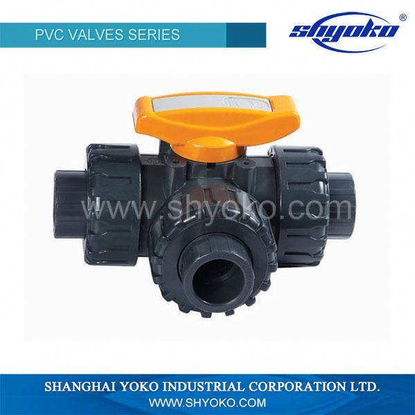 3 way ball valve with China manufacturer dn32 compression fitting ball valve