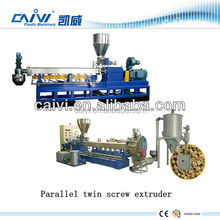mini plastic pellet Polymer compounding co-rotating twin screw extruder