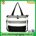 black and white stripe diaper bag for promotion