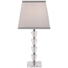 Chinese K9 Crystal Home Goods Table Lamp With Linen Fabric Shade