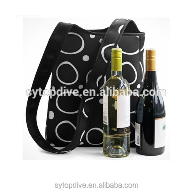 2 Bottle Wine Bag Carrier and Insulated Lunch Bag Tote For Women
