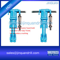 Jinquan pneumatic rock drills used in mine, railway, water irrigation works and quarrying works to drill holes