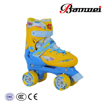 Cheap price populer sale good material soft fabric pu wheel quad roller skates