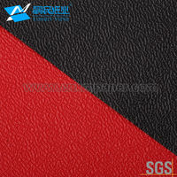 Full color Waterproof Faux Leather Fancy Paper Colourful Embossed Leather Grain Paper