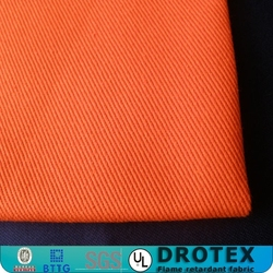 No pilling and melting cotton fire resistant anti-static fabric for protective coverall