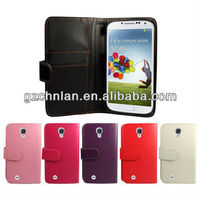 2013 New Stylish mobile phone leather wallet cases for samsung galaxy s4
