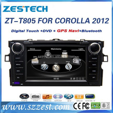 car dvd player gps for Toyota corolla 2012 car dvd player gps with auto steering wheel ZT-T805