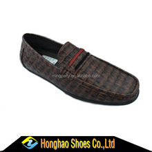 2017 crocodile line pu matierial fashon casual men loafer for low price