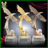 Golden metal eagle statue
