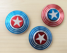 100/Lot Captain America Fidget Spinner toy Hand Spinner EDC Tri-Spinner Fingertips Gyro Toy Kids/Adult Anti Stress Decompression