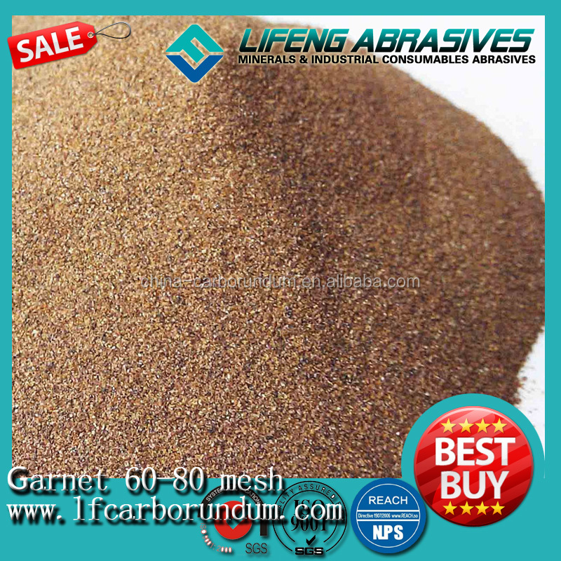polishing sandpaper abrasive garnet Garnet for water jet cutting sand blasting