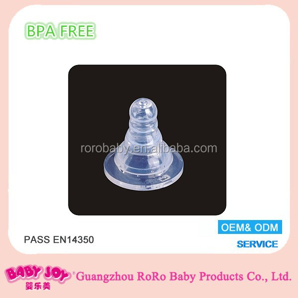 Silicone nipple standard size for feeding bottle
