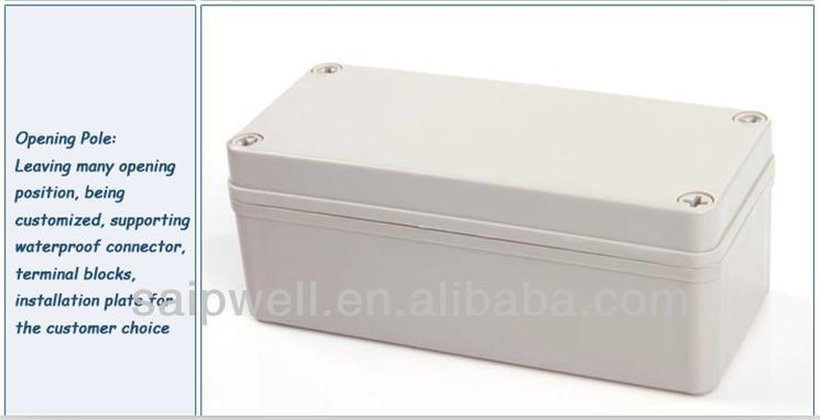 ABS Plastic waterproof Terminal Junction Box Enclosures With CE Certification 80*180*70 mm Size