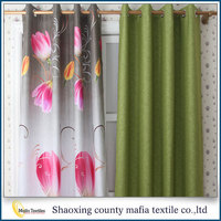 China wholesale Latest design Decorative Blackout floral curtains printed