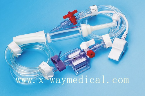 Medical Disposable single double channel pressure transducer infusion set, pressure transducer for Edward Abbott