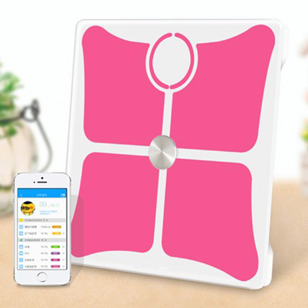 180kg led clever body fat muscle water bone analyzing bluetooth scale