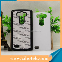 2D TPU sublimation Soft mobile phone case for LG G3 with metal insert