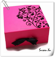 Storage box for wedding dresses in the light