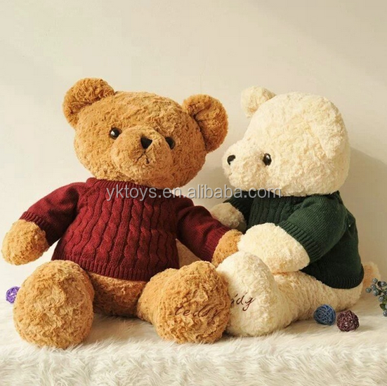 High quality custom animal soft bear toys plush christmas gift teddy bear