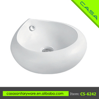 White color art ceramic round mini hand washing chinese cheap toilets and sinks