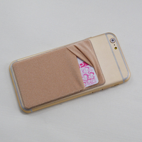 silicone mobile phone card holder for phone