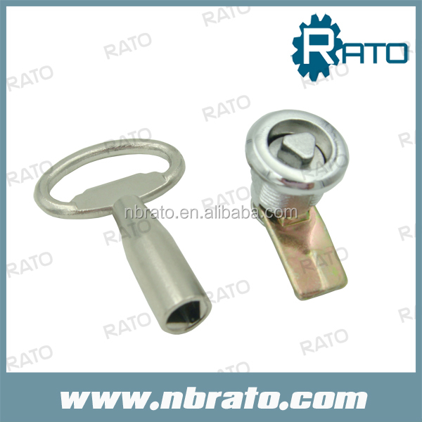 RC-<strong>114</strong> adjustable length triangle key zinc alloy cylinder train cam lock