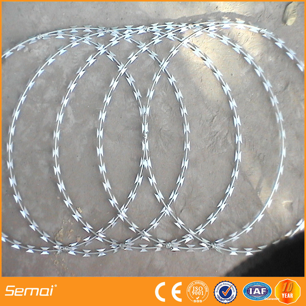 Best Price Double Loop Galvanized High Tensile Razor Barbed Wire Security Fence (factory price)