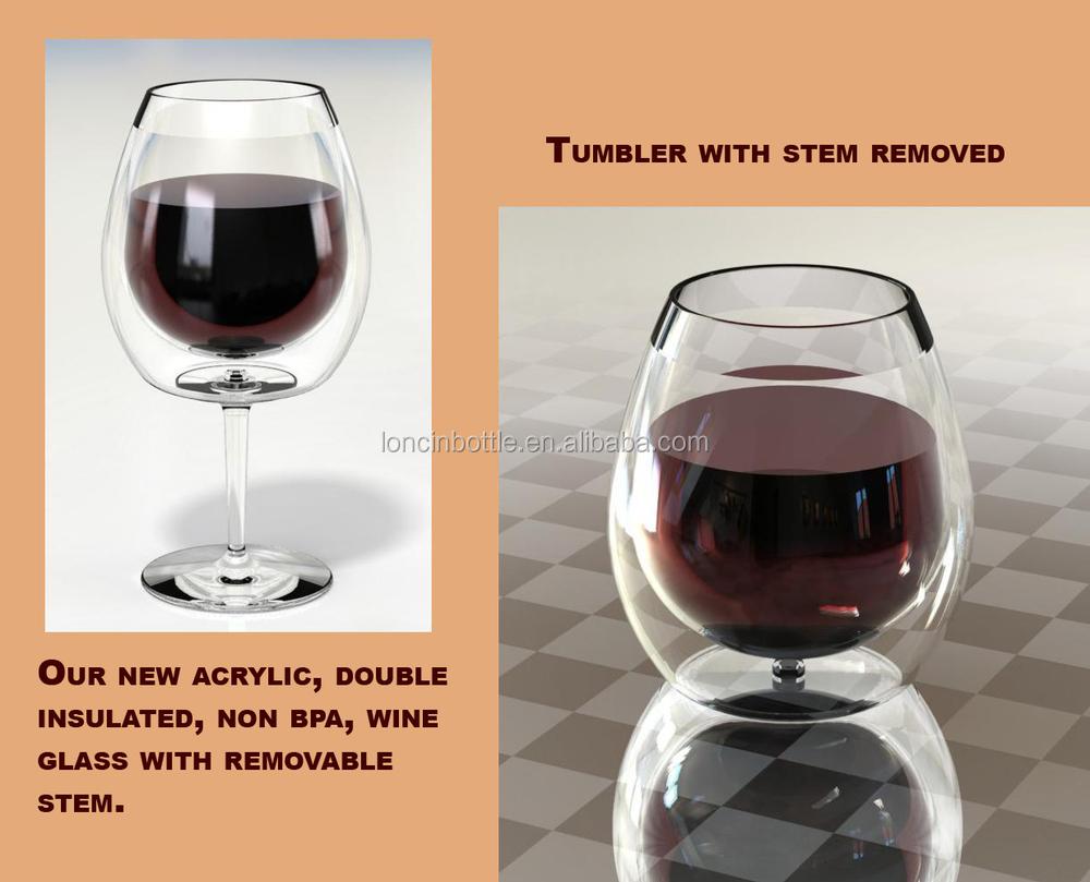 stemless glass tumbler plastic stemless wine stemless wine tumbler cup10oz - Plastic Stemless Wine Glasses