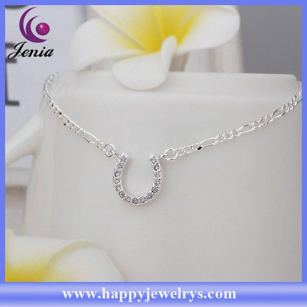 Newest arrival fashionable design 925 silver anklet gold anklets CA023
