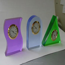 OEM table top colorful acrylic clock stand display