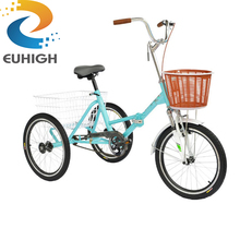 Factory whosale folding adult tricycle for cargo