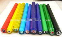 colorful millefiori thousand flowers glass rods