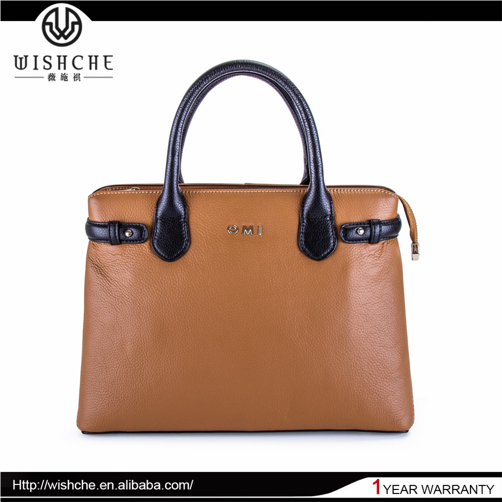 Wishche OEM/ODM Custom Factory Alibaba Guangzhou Leather Bags Ladies Handbag Manufacturers American Brand Handbags 2016 W067