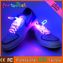 Wholesale flashing shoelaces printed logo
