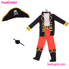 Wholesale big stock kids pirate halloween party costume